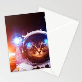 Funny Cat Astronaut #1 Stationery Cards