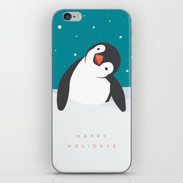 Holiday Penguin iPhone Skin