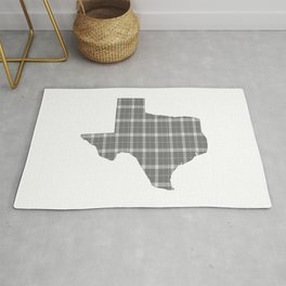 Texas State Shape: Grey Rug