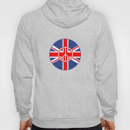 Brit Flag Peace Sign Roundel Hoody