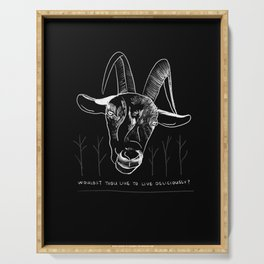 Wouldst Thou Like to Live Deliciously? Serving Tray