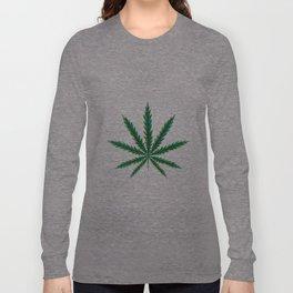 Marijuana. Cannabis leaf  Long Sleeve T-shirt