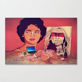 The Artistic Woman Canvas Print