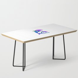 Rainbow Dolphins swimming in the sea Coffee Table