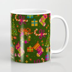 christmas x-stitch pattern for the holiday mood Coffee Mug