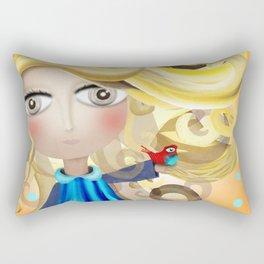 Blonde Hair Doll and Bird Friend Shower Curtain 2017 Rectangular Pillow