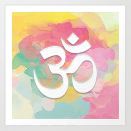 Crown Chakra Symbol & Delicate Watercolor Art Print