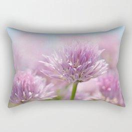 Allium pink macro 303 Rectangular Pillow