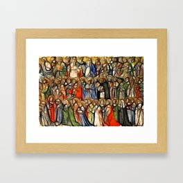 Saints Choir Framed Art Print