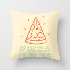Pizza is Bliss Throw Pillow