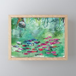 Fish Head Framed Mini Art Print