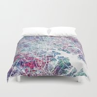 baltimore Duvet Covers featuring Baltimore by MapMapMaps.Watercolors