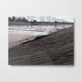 Concrete Beach Metal Print