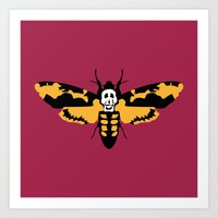 silence of the lambs Art Prints featuring The Silence of the Lambs by FilmsQuiz