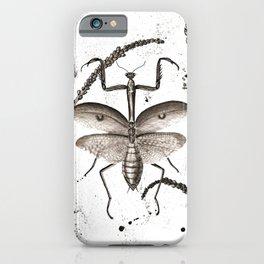 Praying Mantis watercolor iPhone Case
