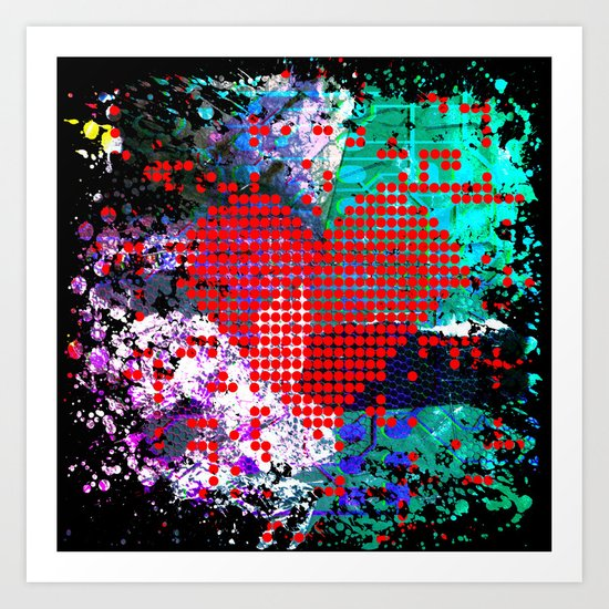 digital at its heart Art Print