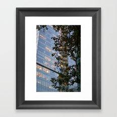 Urban Leaves Framed Art Print