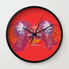Cosmic Love - Red Wall Clock