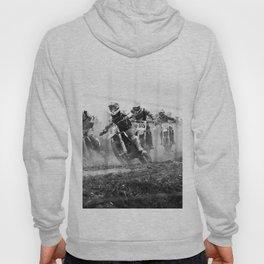 Motocross black white Hoody