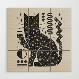 Magic Cat Wood Wall Art