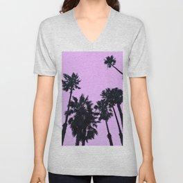 Pink Palms Unisex V-Neck