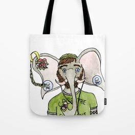 Hipster Elephant Tote Bag