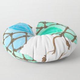 Glass Floats Floor Pillow