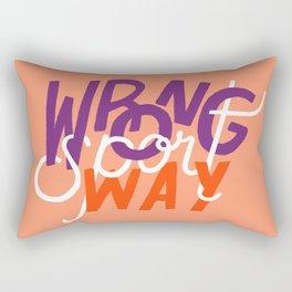 Wrong Way, Sport Rectangular Pillow