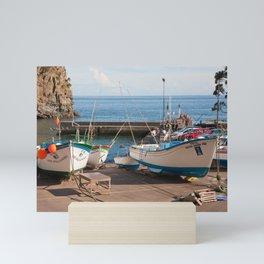 The harbour of Caloura Mini Art Print