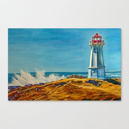 Lighthouse by the Sea Canvas Print