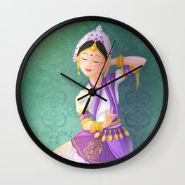 indian dancer Wall Clock
