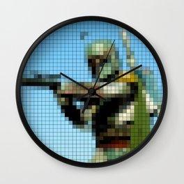 Boba Fett with Blaster Pixel Wall Clock