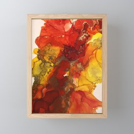 Fall explosion Framed Mini Art Print