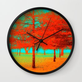 Vintage Trees at the Beaches in Toronto Wall Clock