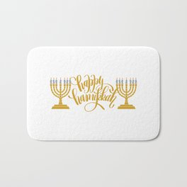 Happy Hanukkah  Bath Mat