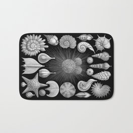 Sea Shells and Starfish (Thalamophora) by Ernst Haeckel Bath Mat