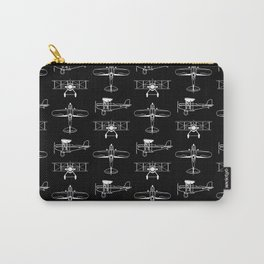 Biplanes // Black Carry-All Pouch