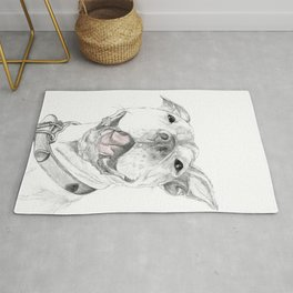 A Smile is Worth a Thousand Words :: A Pit Bull Smile Rug
