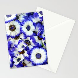 White and Blue Daisies I Stationery Cards
