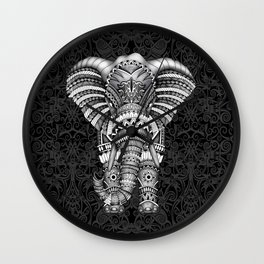 elephant with aztec pattern Wall Clock