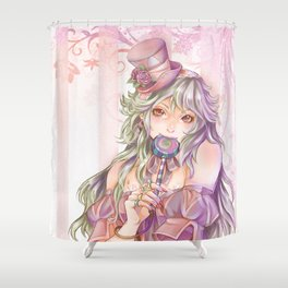 Pink Girl Shower Curtain