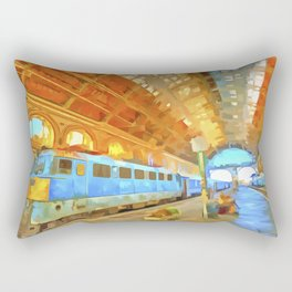 Pop Art Railway Station Rectangular Pillow