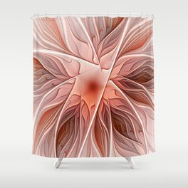 Flower Decoration, Abstract Fractal Art Shower Curtain