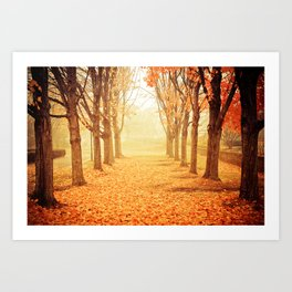 The Poetry of Autumn Art Print