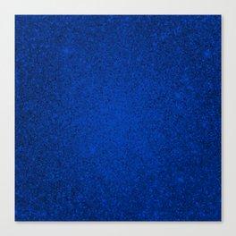 Tanzanite Blue Sparkling Jewels Pattern Canvas Print