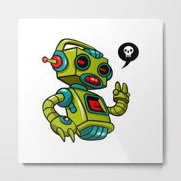 Retro Robot Metal Print