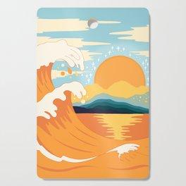 Orange wave Cutting Board