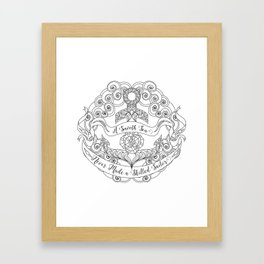Anchor Tattoo Color Your Own Art Skilled Sailor Quote Framed Art Print