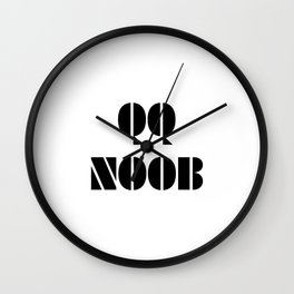 QQ NOOB Wall Clock