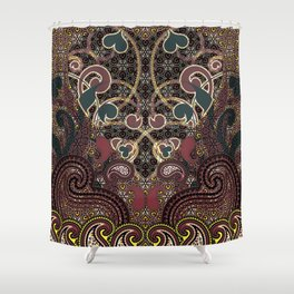 Flaming Hearts Shower Curtain